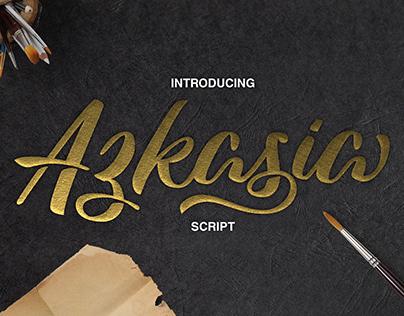 Azkasia Script Font