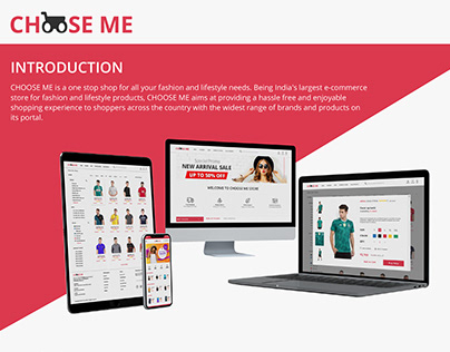 Choose Me E-Commerce Website UI UX Design