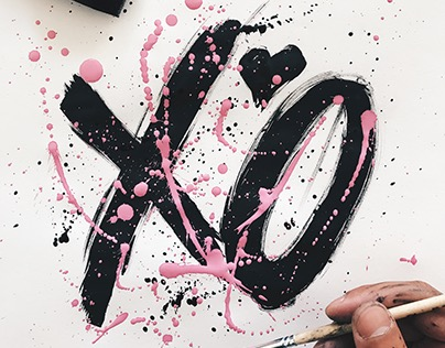 Lettering 7 - Ink + Paint Experiments