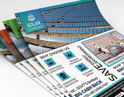 Solar Energy Flyers Template