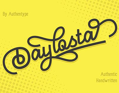 Free Font - Daylosta Authentic Handwritten