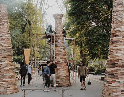 Pasar Seni ITB 2014 - Reclaimed Wood Instalation