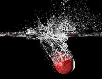 Washed apple