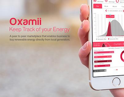Oxamii App UI Design