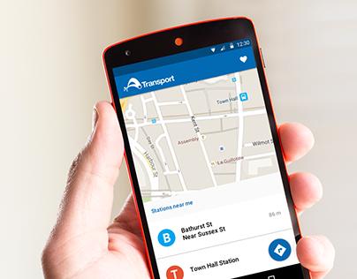 Concept - NSW Transport mobile app