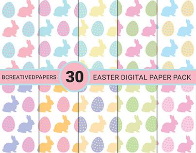 Easter digital papers pack of 30