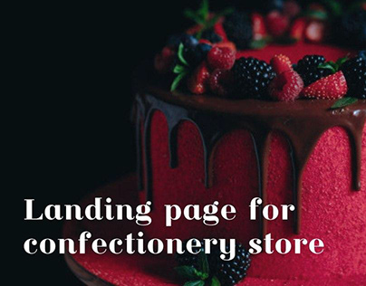 Landing page for confectionery store