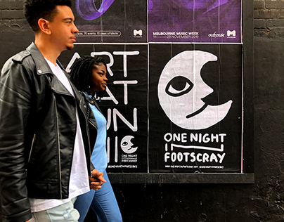 One Night in Footscray 2019 event identity
