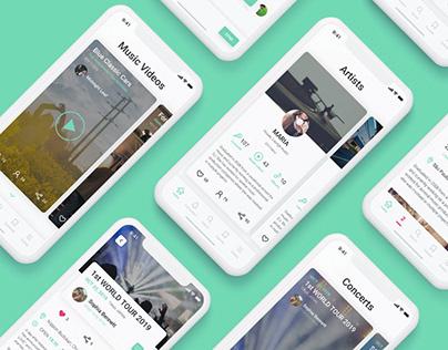 Mobile App For Musicians | UI Concept
