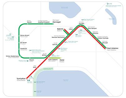 Official map of the Baku Metro