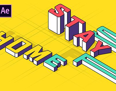 Isometric Typo Animation