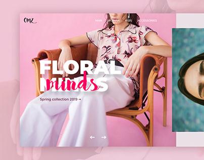 Floral Minds - UI concept