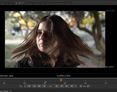 Recorte de pelo , con canal alpha en video NUKE 11.