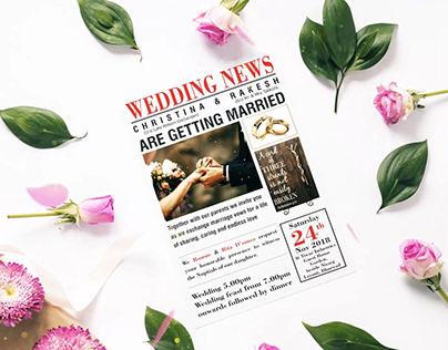 Christina Wedding Card