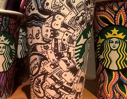 Cups Starbucks