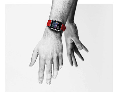 Hands with Apple Watch