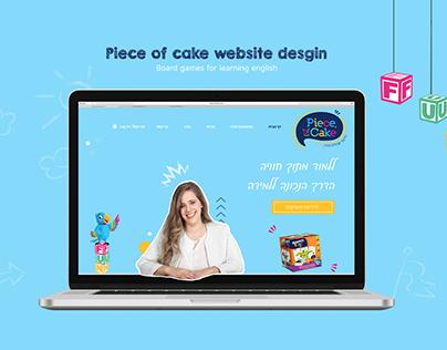 piece of cake website design- Board games