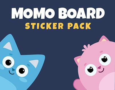 MOMO Board Animated Sticker Pack