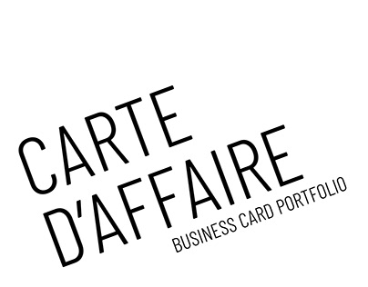 DESIGN GRAPHIQUE - cartes d'affaire mix