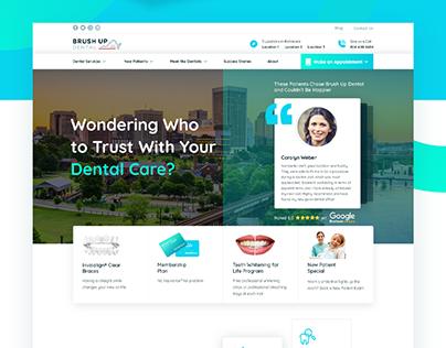 (live) Brushup Dental - Website Design