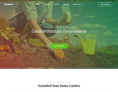 Gardener Landing Page Design 2