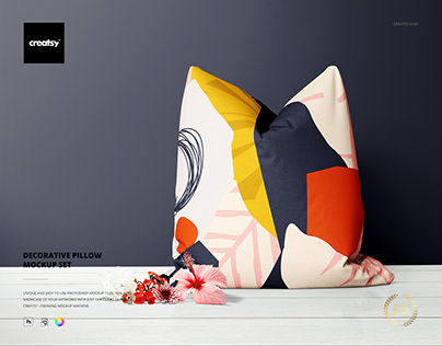 Decorative Pillow Mockup Set
