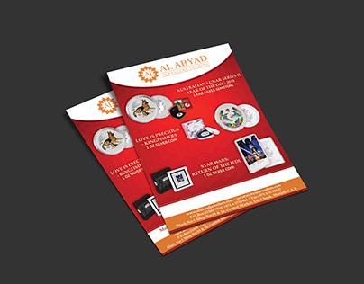 Flyer Design - Al Abyad Jewellers