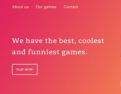 Best, Cool & Fun Games Website - Interface Design