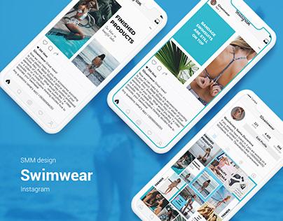 SMM design. Instagram for bikini manufactory