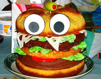 Happy Cheeseburger cake