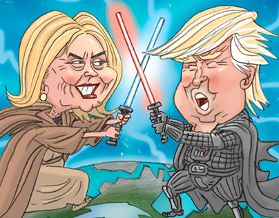 Clinton Vs Trump Star Wars