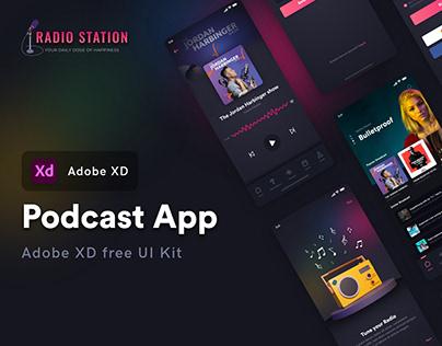 Podcast App free UI kit