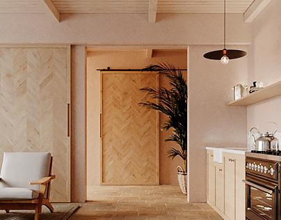 Modern ethnic-style apartment