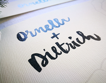 Illustrated Wedding | Ornella + Dietrich