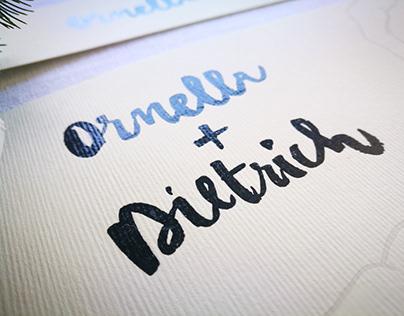 Illustrated Wedding | Ornella + Dietrich