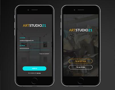 ArtStudio21 - Contemporary Art Gallery Website