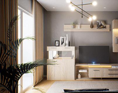 Visualization of Furniture in the Interior. Archviz UE4