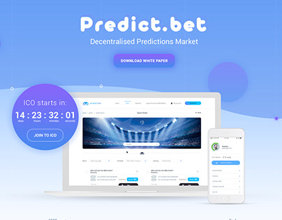 Decentralised Predictions Market (ICO landing page)