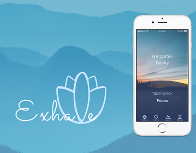 Exhale: UI Design for Meditation App