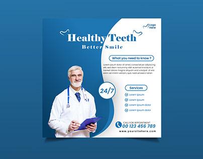 Healthy Teeth social media post design