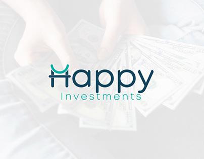 Happy Investments Logo Branding
