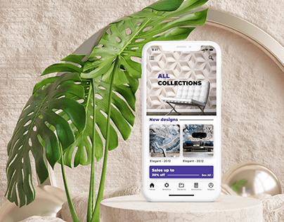 Application of the online store of designer wallpaper