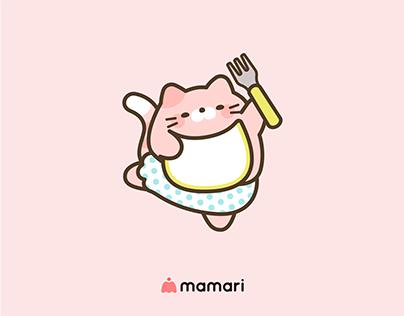 ママリ CP用イラスト 「ねこママ」シリーズ