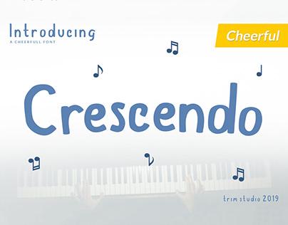 Free Crescendo Display Font