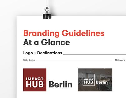 Impact Hub · Branding Guidelines Poster