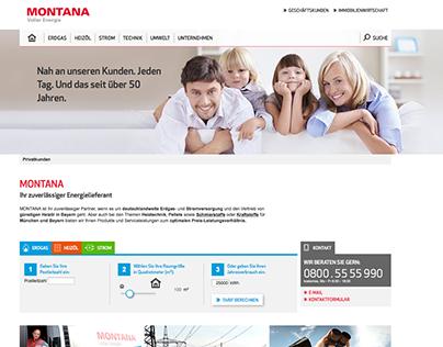 MONTANA ENERGY website   concept   for coma