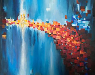 Reincarnation - Acrylic&Oil Painting on Canvas