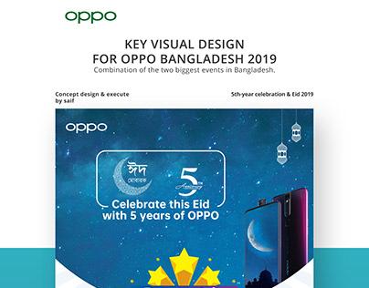 Key visual design for oppo bangladesh 2019