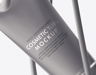 Cosmetic Tube Mockup+Free Version