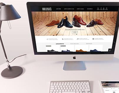 Sergio's | Interface de e-commerce de calçados